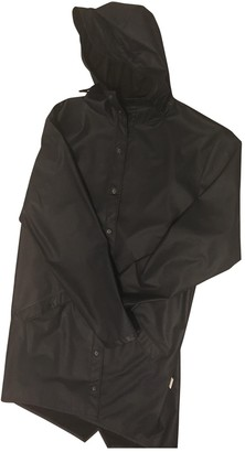 Rains Navy Polyester Trench coats