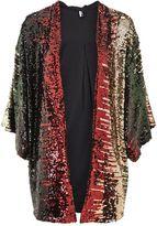 Topshop Sequin Embellished Kimono Throw