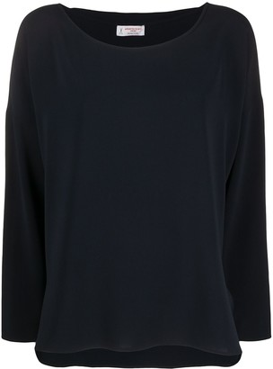 Alberto Biani Boat Neck Long-Sleeved Top