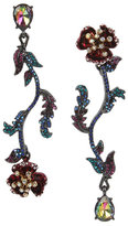 Betsey Johnson Surreal Forest Flower Linear Earrings