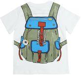 Stella McCartney Backpack Print Organic Cotton T-Shirt