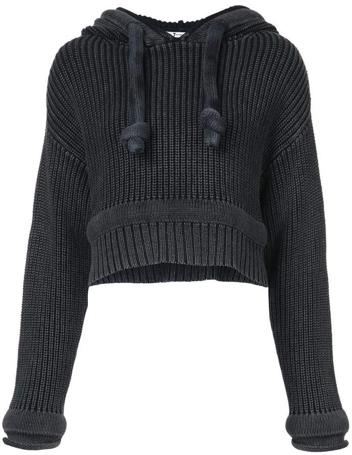 Alexander Wang Chunky Knit Hoodie sweater