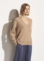 Marled Wool Cashmere V-Neck