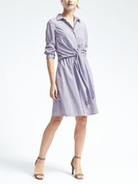 Banana Republic Stripe Tie-Waist Shirtdress