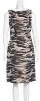 Lanvin Printed Sheath Dress