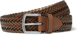 Polo Ralph Lauren 3cm Brown Woven Leather Belt