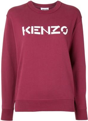 Kenzo Logo Print Crew Neck Sweatshirt