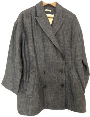 Masscob Blue Linen Coat for Women