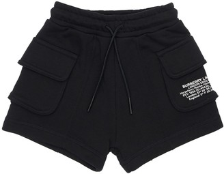 Burberry Cotton Cargo Sweat Shorts