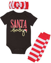 Baby Starters Black 'Santa Baby' Bodysuit Set - Infant