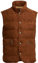 Polo Ralph Lauren Quilted Suede-Down Vest
