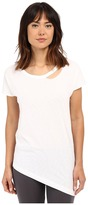 Yummie by Heather Thomson Jersey Slub Dropped Neckline Cut Out Tee