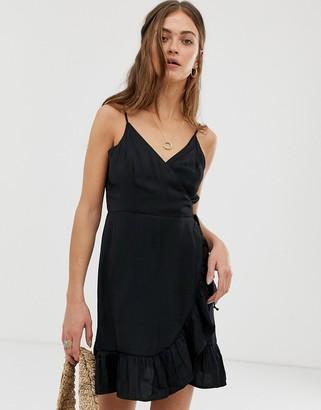 Free People All My Love slinky wrap dress-Black