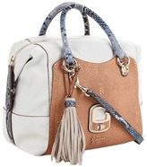 GUESS Azadeh small Box Satchel (Chalk Multi) - Bags and Luggage