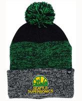 '47 Seattle SuperSonics Black Static Pom Knit Hat