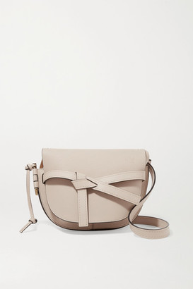 Loewe Gate Small Textured-leather Shoulder Bag - Stone