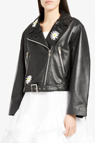 Natasha Zinko Embroidered Leather Jacket