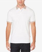Perry Ellis Men's Check-Trim Cotton Polo