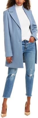Tahari Wool-Blend Long Coat