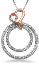 FINE JEWELRY Hallmark Diamonds 1/4 CT. T.W. Diamond Circle Heart Pendant Necklace