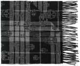 Alexander McQueen tartan skull scarf - men - Cashmere/Lambs Wool - One Size
