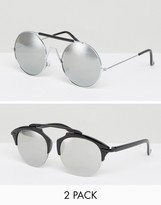 7x Round Sunglasses 2 Pack