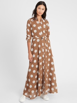 Banana Republic Petite Heritage Sheer Maxi Shirtdress