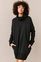 Silence & Noise Silence + Noise Turtleneck Sweatshirt Mini Dress