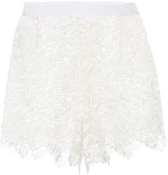 Giambattista Valli Lace high-waisted shorts