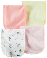 Carter's Baby Girls' 4-Pack Little Blooms Burp Cloths