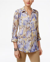 JM Collection Printed Crinkled Shirt, Only at Macy's