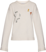 J.W.Anderson Bow-embellished ribbed-knit sweater
