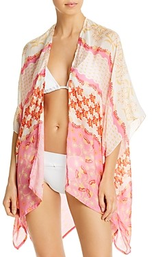 Echo Flora Printed Duster Swim Cover-Up