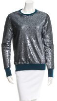 Equipment Sequined Crew Neck Top