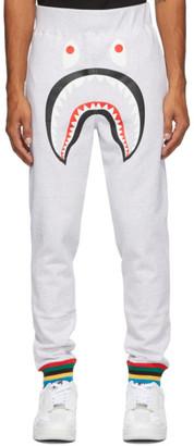 BAPE Grey Rib Shark Line Lounge Pants