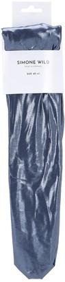 Velvet Sock'S By Simone Wild Aqua Techno Over-The-Knee Socks