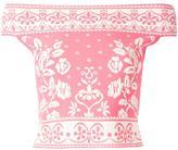 Alexander McQueen jacquard knit top - women - Polyamide/Polyester/Spandex/Elastane/Viscose - L