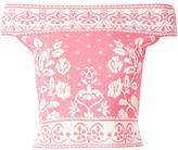 Alexander McQueen jacquard knit top - women - Polyamide/Polyester/Spandex/Elastane/Viscose - M