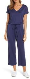 Caslon V-Neck Knit Blouson Jumpsuit