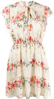 RED Valentino frilled floral print dress
