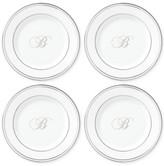 Lenox Federal Platinum Monogram Script 4-Pc. Tidbit Plate Set