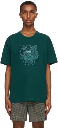 Kenzo Green Velvet Tiger T-Shirt