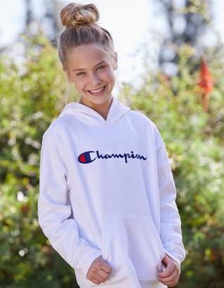 Champion Embroidered Girls Hoodie