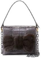 Nancy Gonzalez Small Mink Knot Crocodile Bag