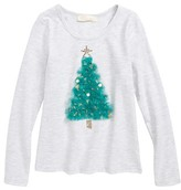 Truly Me Toddler Girl's Embellished Christmas Tree Tee