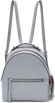 Fendi Blue Mini Messenger Backpack