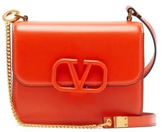 Valentino V-sling Small Leather Shoulder Bag - Womens - Orange