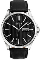HUGO BOSS BOSS The James Analog, Day & Date Leather-Strap Watch