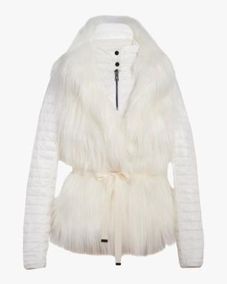 N'Onat Faux Fur Convertible Puffer Jacket