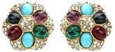 Ben-Amun Byzantine Pearl Crystal Clip On Earrings